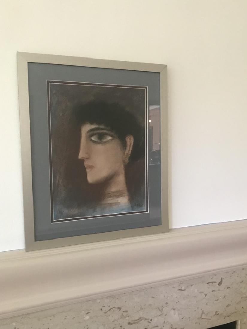 Modernist / Cubist Female Portrait Print Framed - 3