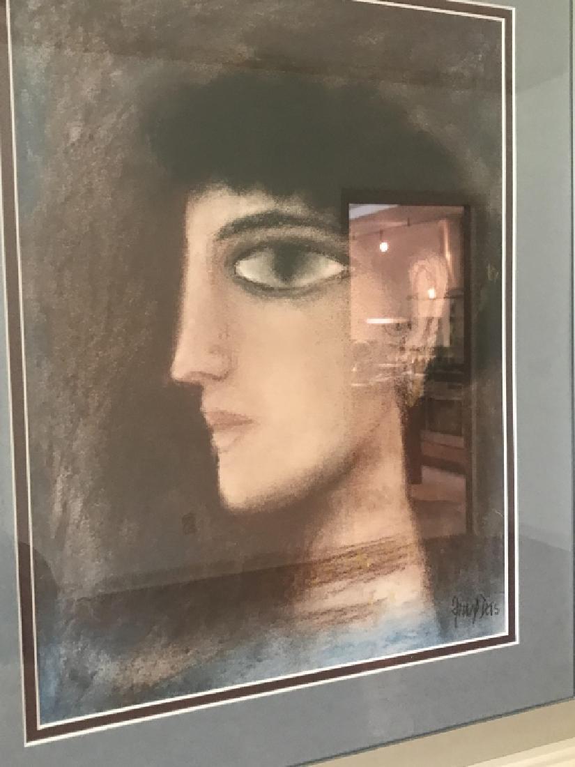Modernist / Cubist Female Portrait Print Framed - 4