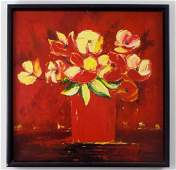 H Carson Floral Still Life Oil Painting