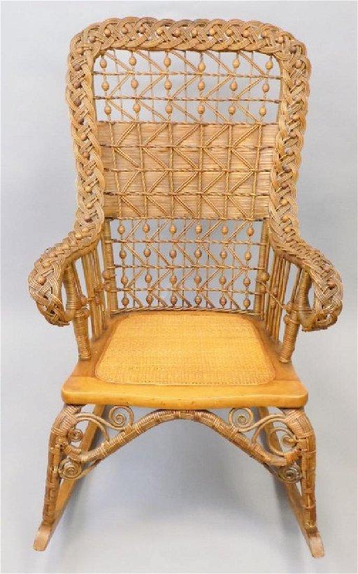 Super Victorian Wicker Cane Seat Rocking Chair Machost Co Dining Chair Design Ideas Machostcouk