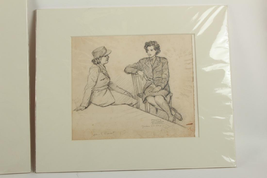2 Signed William Kughler Pencil Drawings - 4