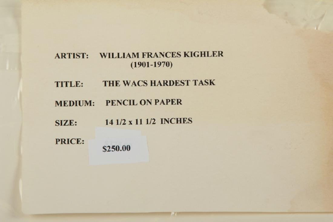 2 Signed William Kughler Pencil Drawings - 9