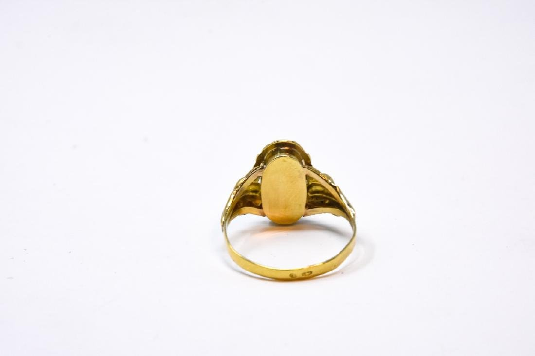 Antique 14kt Yellow Gold & Turquoise Ring - 2