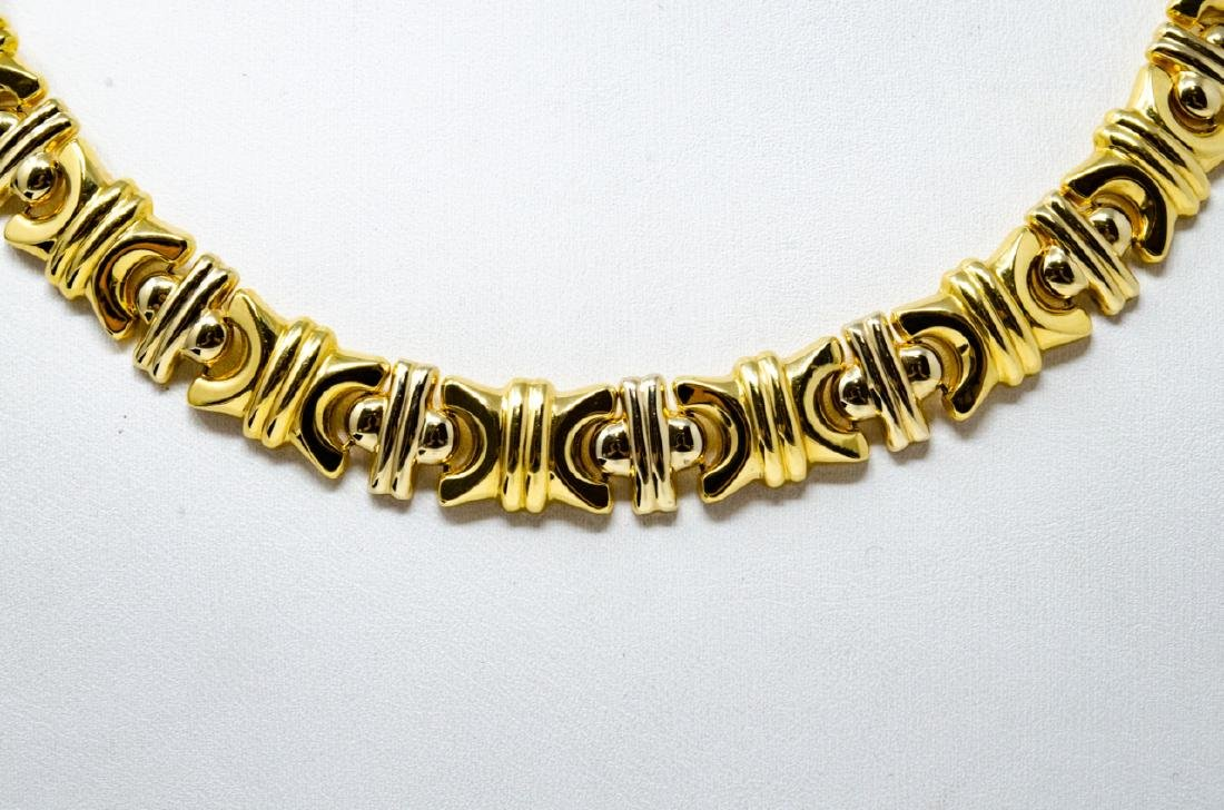 18kt Yellow Gold Italian Panel Necklace - 2