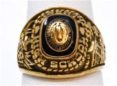 Vintage 10kt Yellow Gold Liberty High School Ring