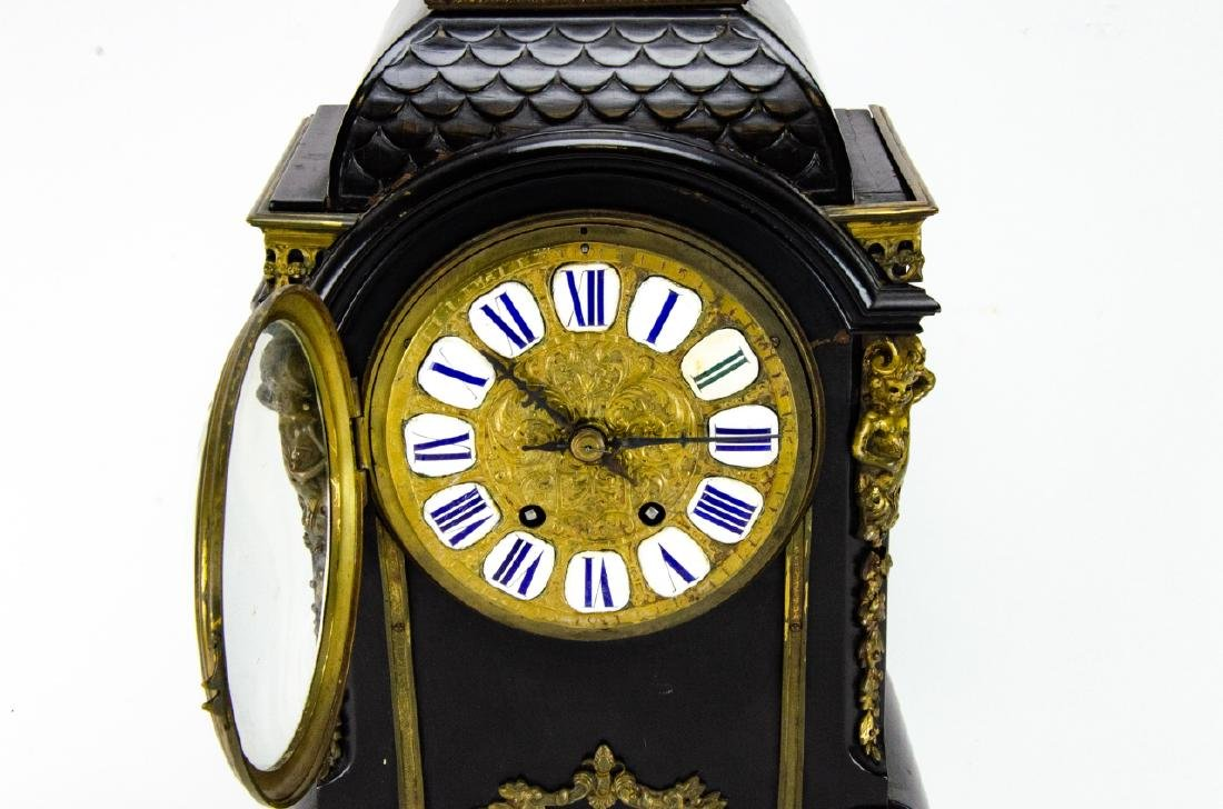 Antique French Napoleonic Style Cartel Form Clock - 7