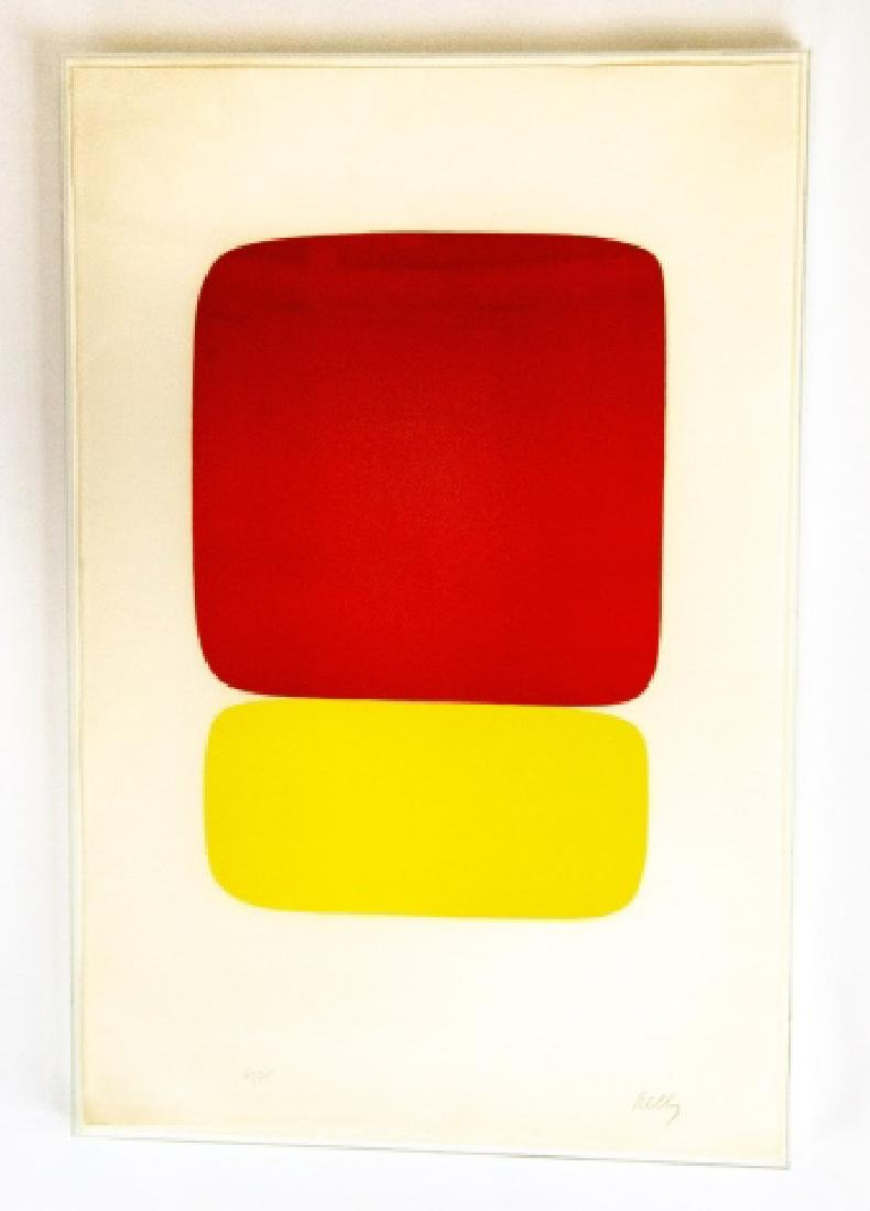 Ellsworth Kelly Signed Red Over Yellow Lithograph