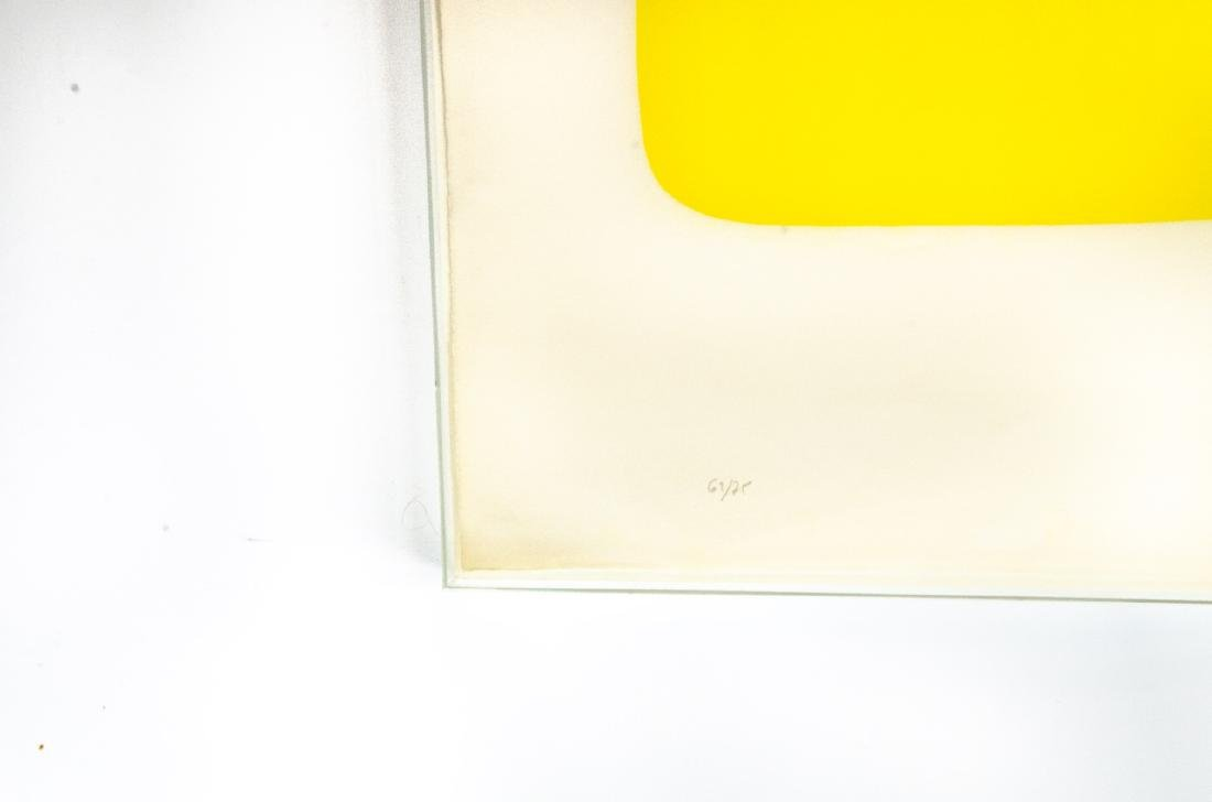 Ellsworth Kelly Signed Red Over Yellow Lithograph - 2