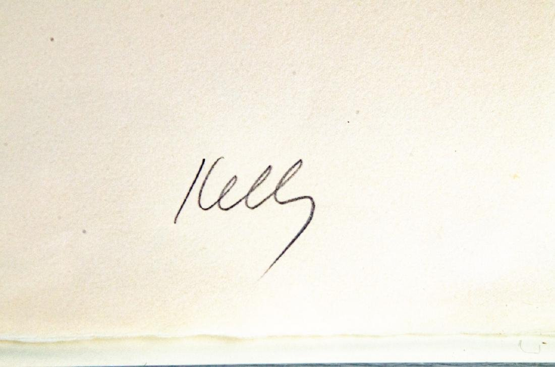 Ellsworth Kelly Signed Red Over Yellow Lithograph - 4