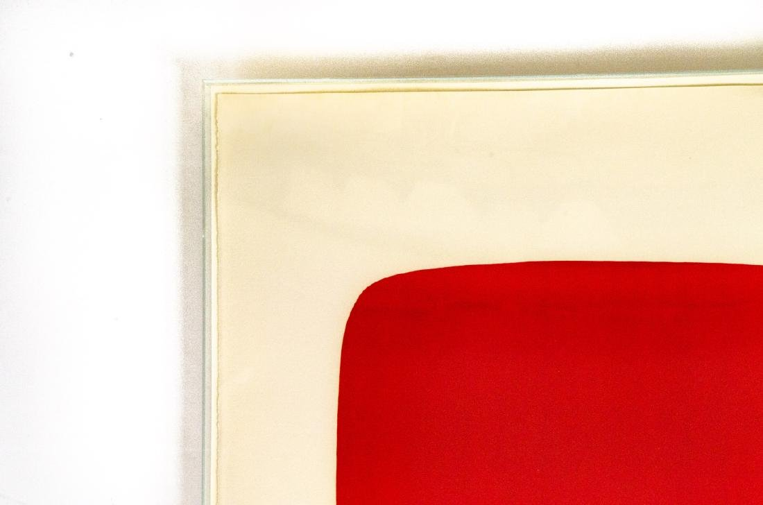 Ellsworth Kelly Signed Red Over Yellow Lithograph - 5