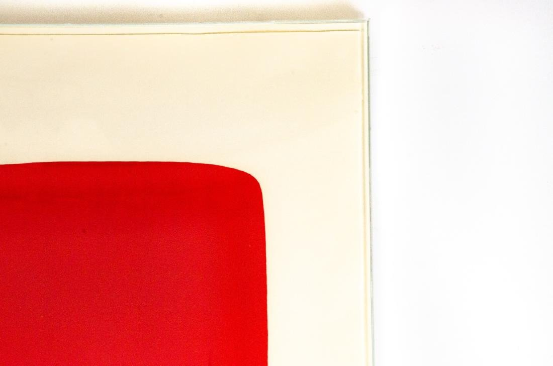 Ellsworth Kelly Signed Red Over Yellow Lithograph - 6