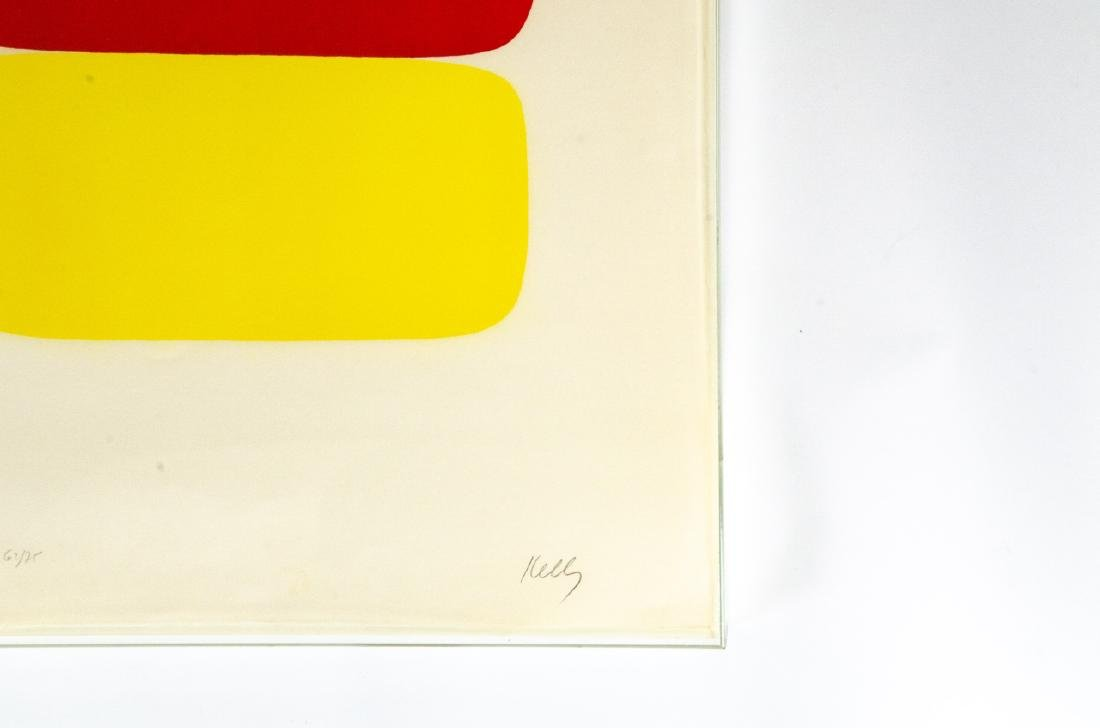 Ellsworth Kelly Signed Red Over Yellow Lithograph - 7