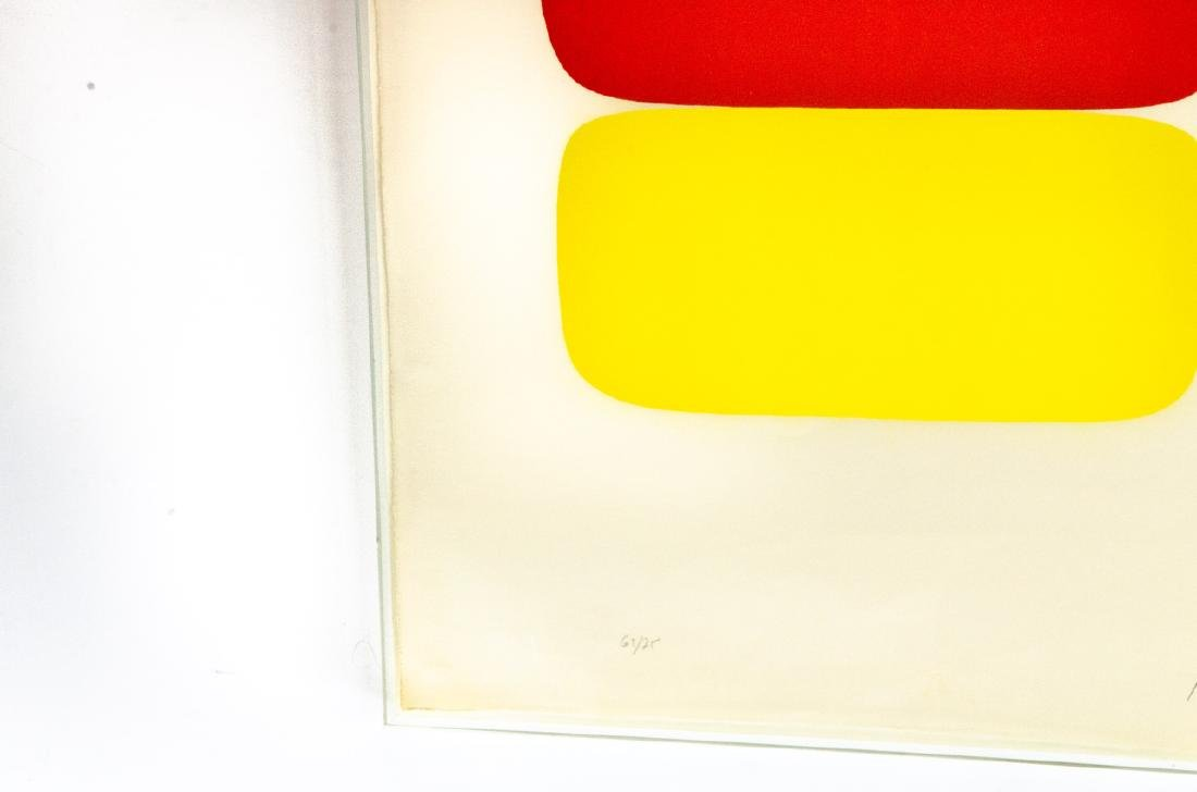 Ellsworth Kelly Signed Red Over Yellow Lithograph - 8