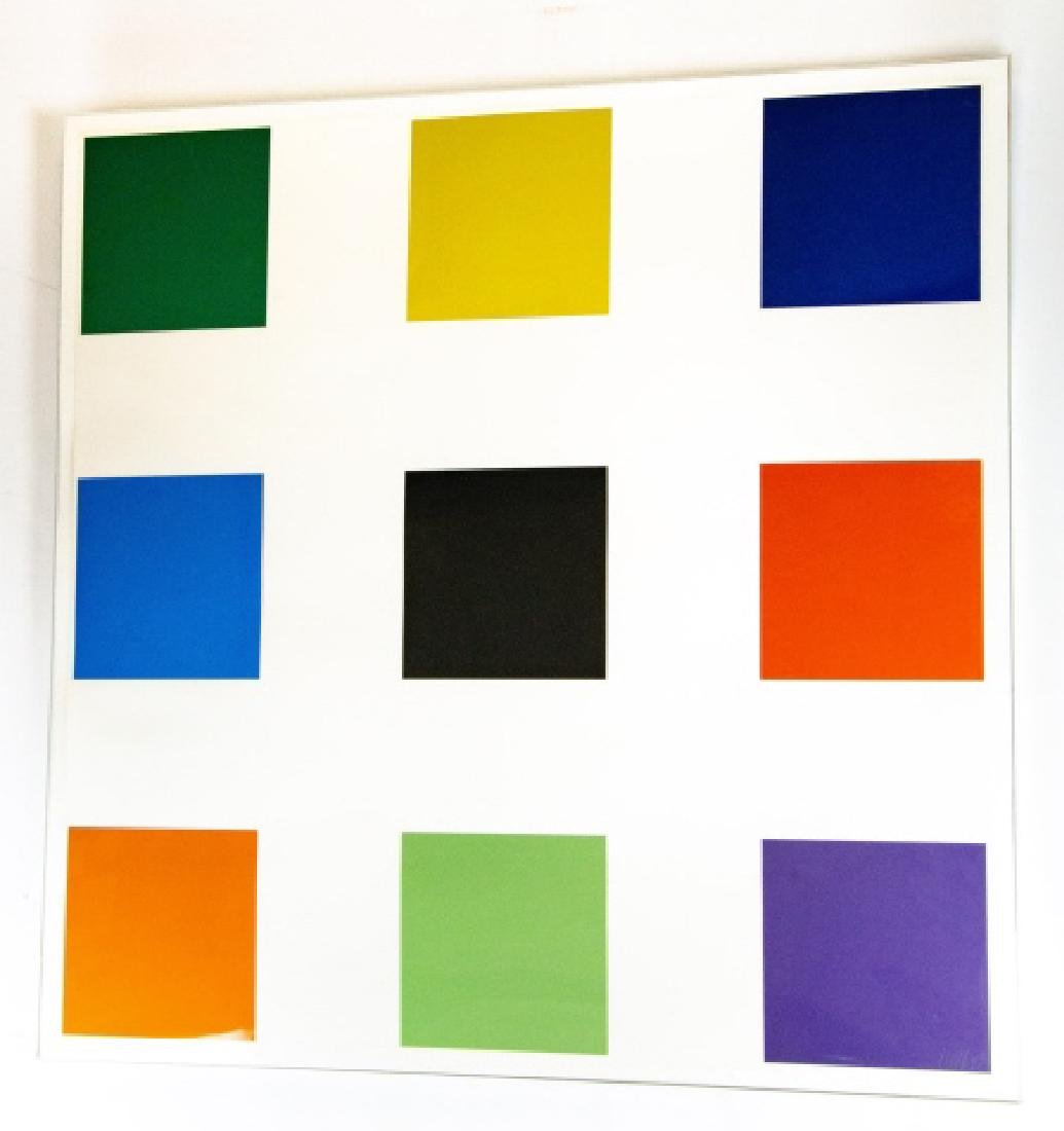 "Ellsworth Kelly Signed ""Nine Square"" Lithograph"