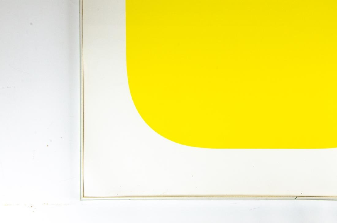 "Ellsworth Kelly Signed ""Yellow"" Lithograph - 2"