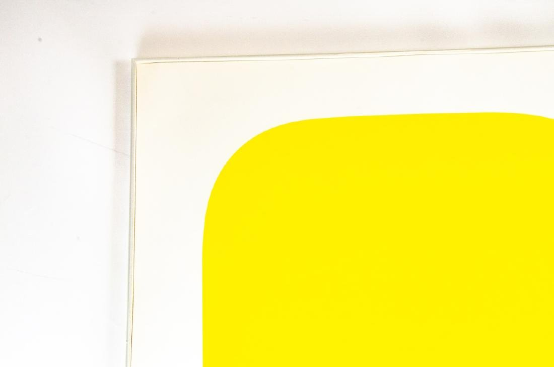 "Ellsworth Kelly Signed ""Yellow"" Lithograph - 3"