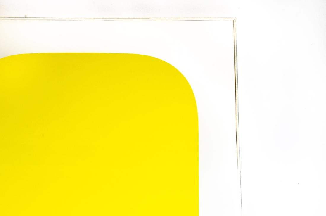 "Ellsworth Kelly Signed ""Yellow"" Lithograph - 4"