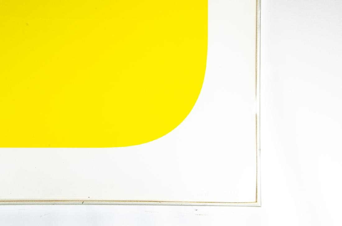 "Ellsworth Kelly Signed ""Yellow"" Lithograph - 5"