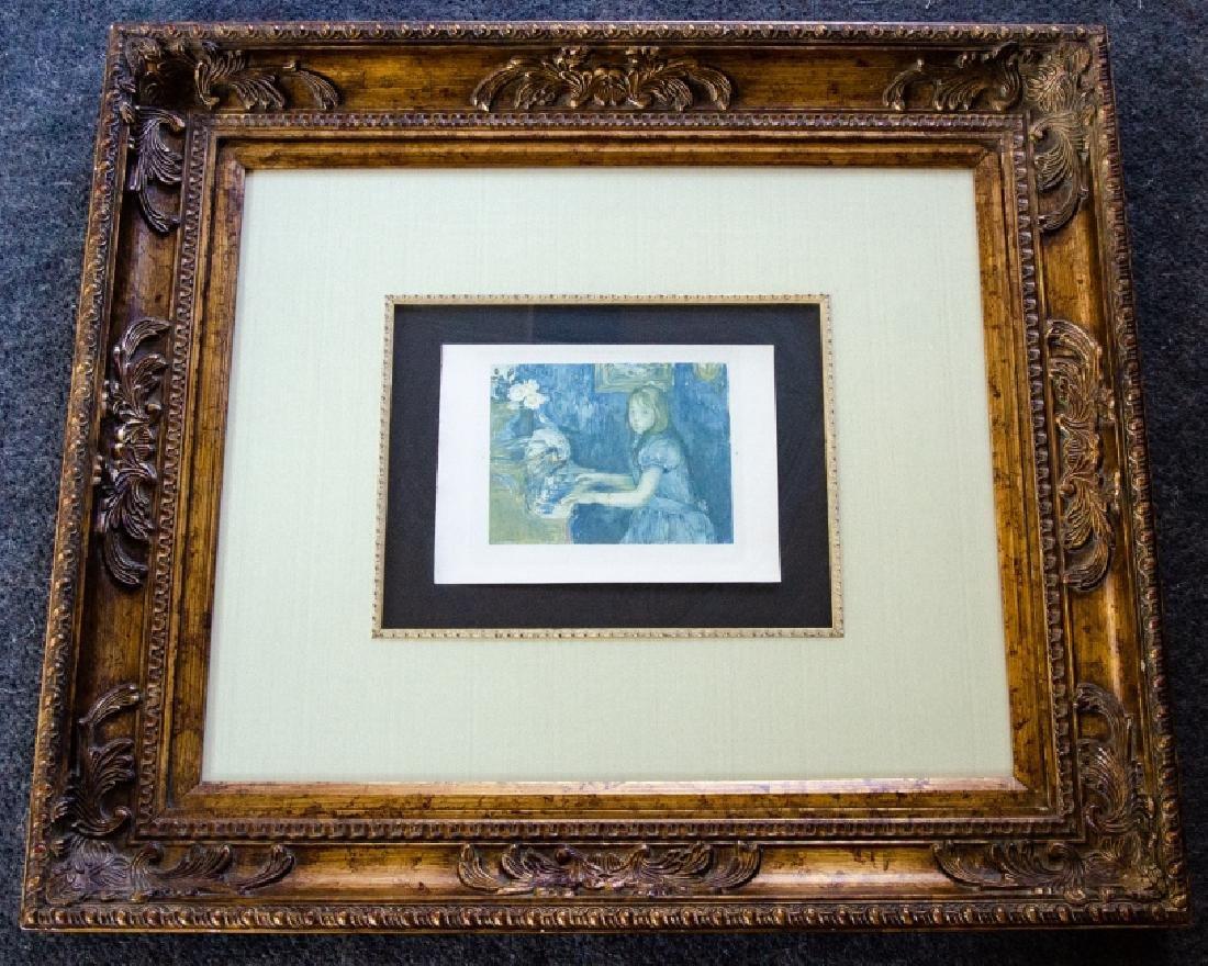 Berthe Morisot Au Piano Quality Framed Print