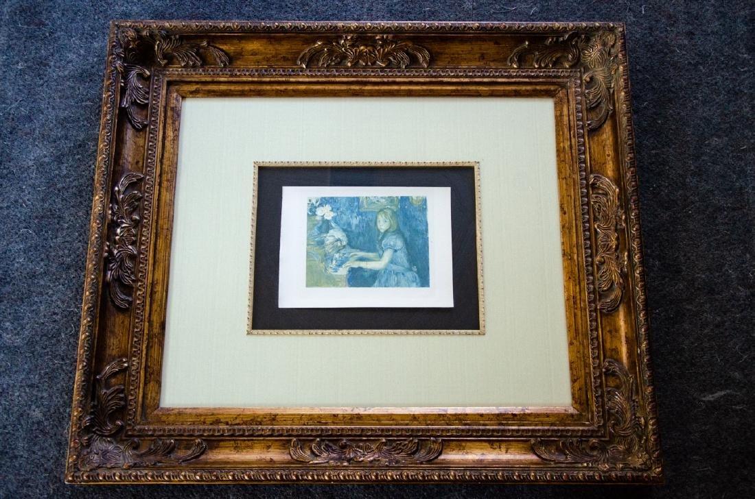 Berthe Morisot Au Piano Quality Framed Print - 3