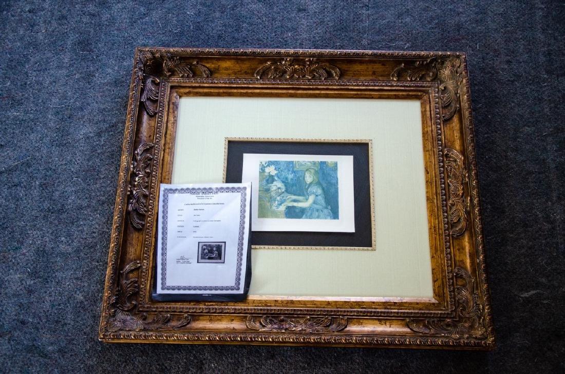 Berthe Morisot Au Piano Quality Framed Print - 4