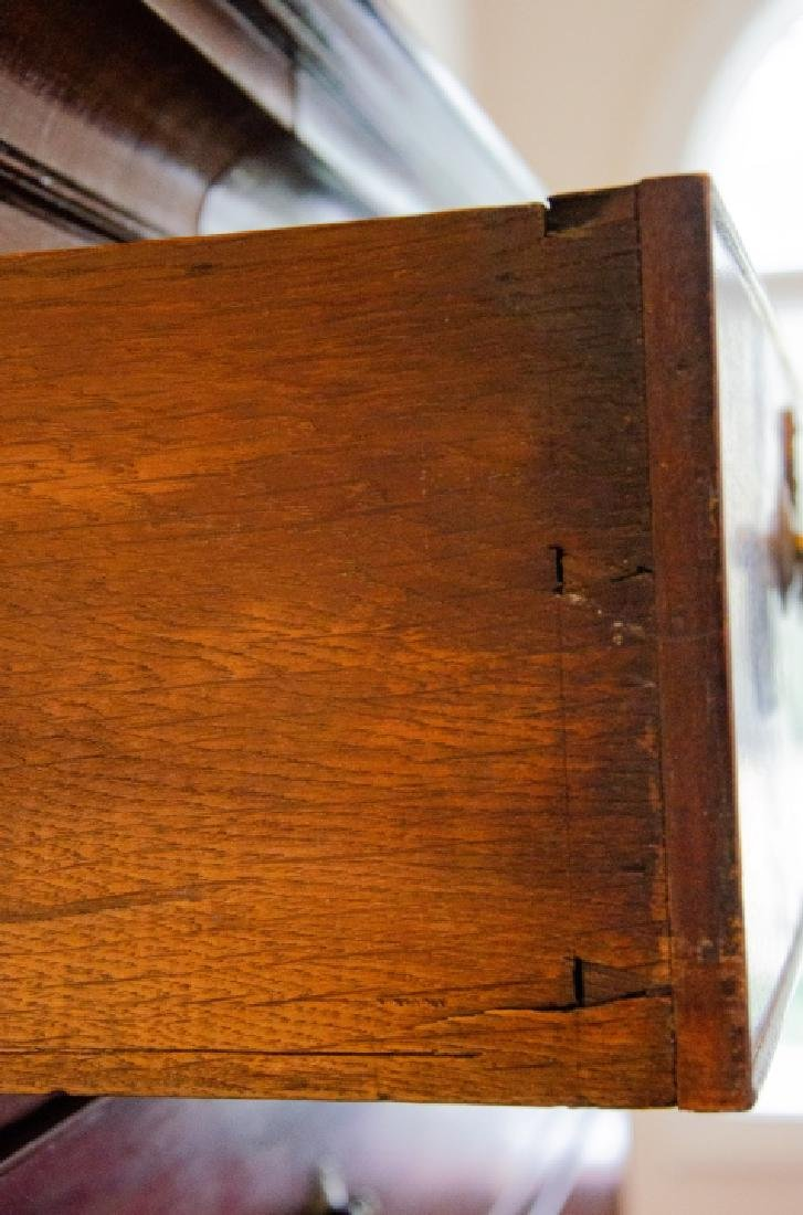 Antique 19th C English Chest on Chest Cabinet - 3