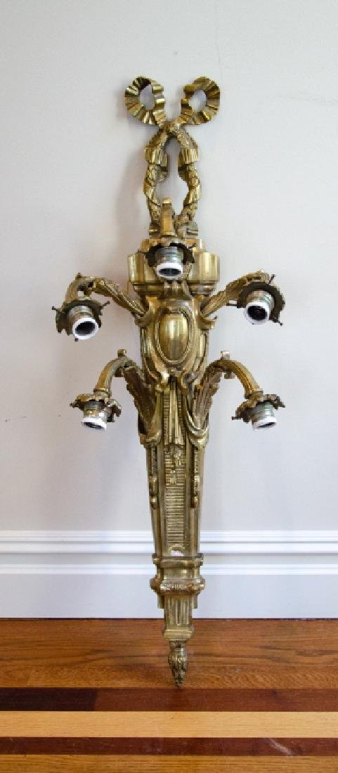 French Empire Napoleonic Style Gilt Bronze Sconce