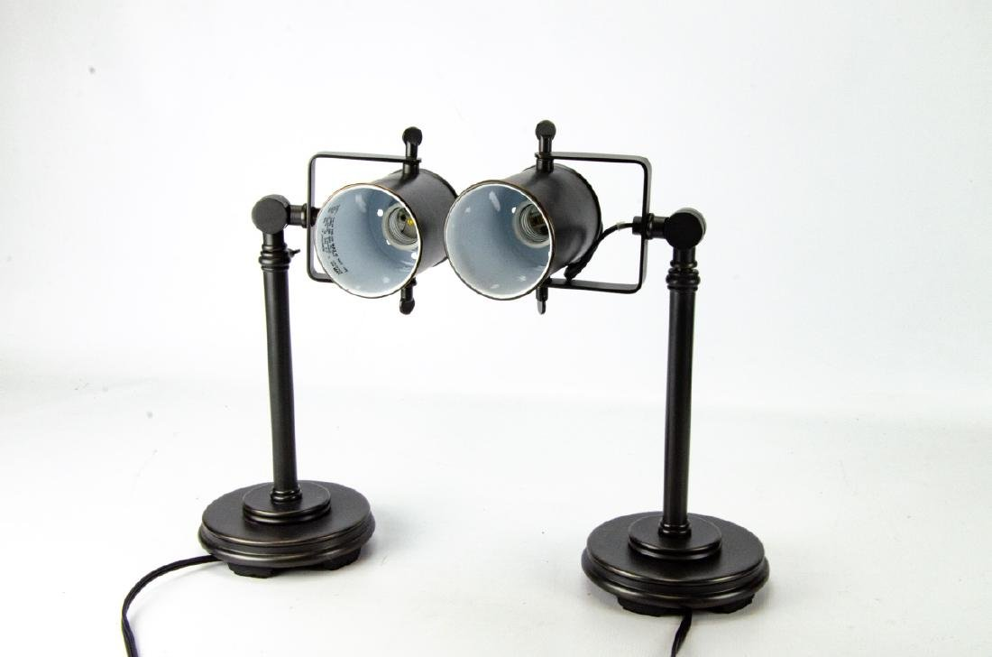 Pair Rubbed Brass Contemporary Style Table Lamps - 4