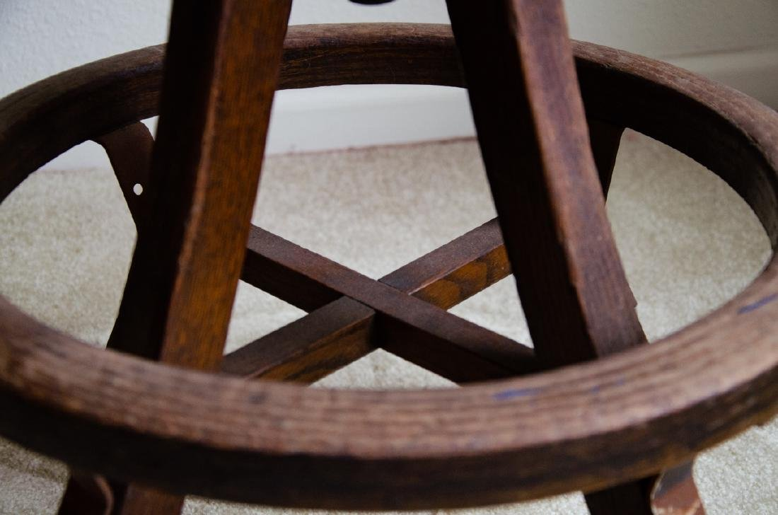 Industrial Style Wooden Stool - 3