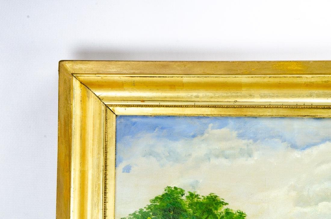 Oil Painting of Colonial American Homestead Scene - 5