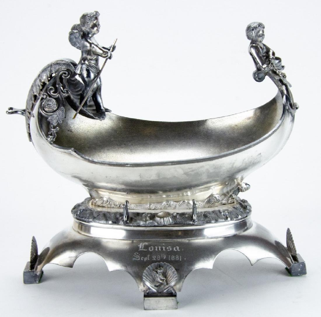 Antique Silver Plate Neoclassical Style Compote