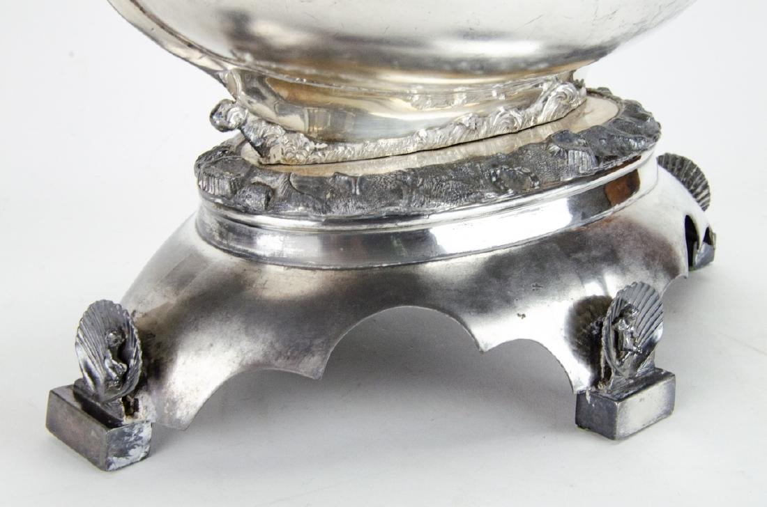 Antique Silver Plate Neoclassical Style Compote - 3