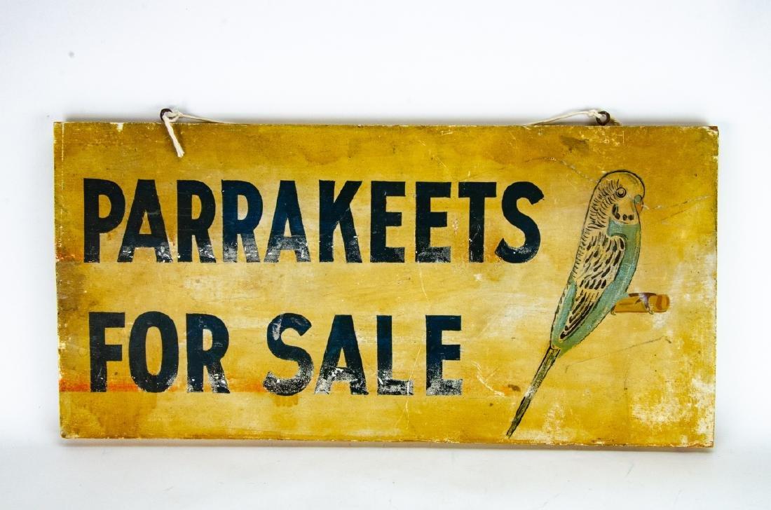 2 Vintage / Retro Advertising Salesman Signs - 2