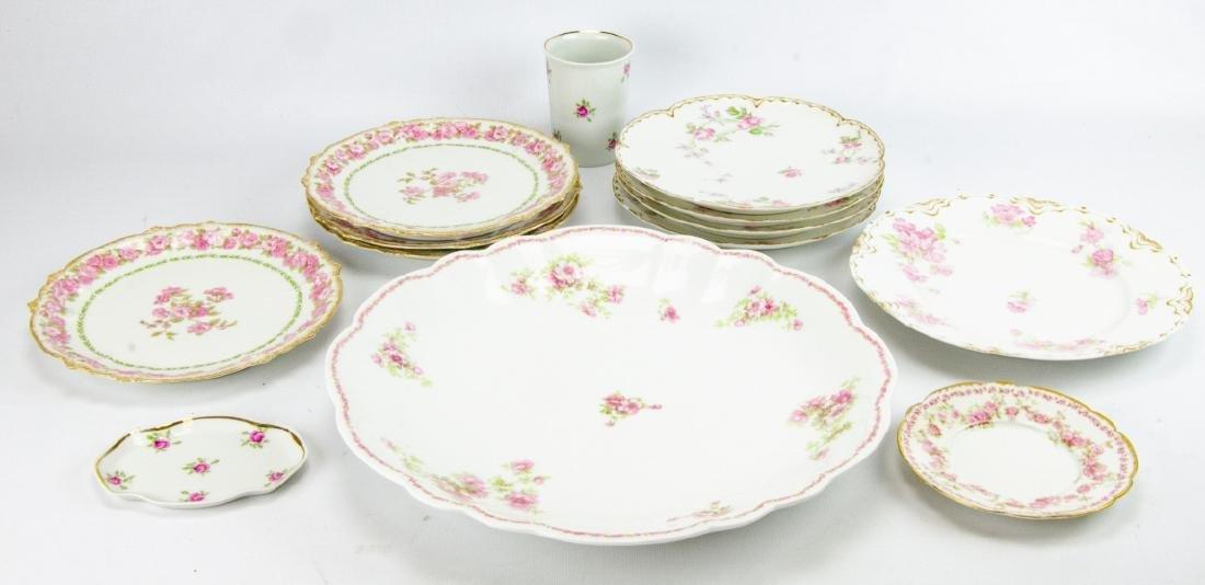 Vintage Haviland Limoges Rose Themed Porcelain