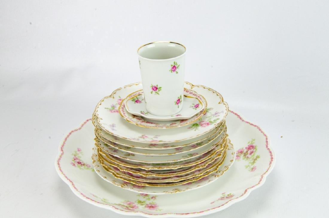 Vintage Haviland Limoges Rose Themed Porcelain - 9