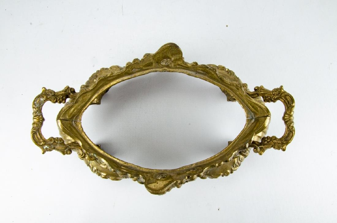 Antique French Louis XV Style Brass Compote - 5