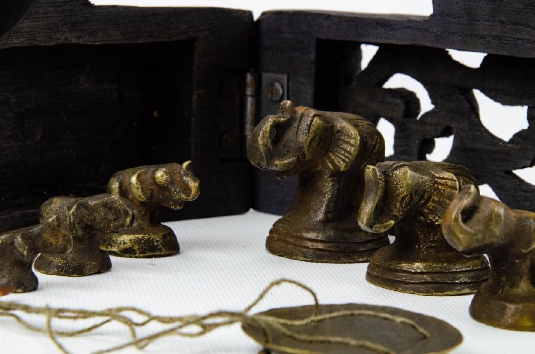 Burmese Miniature Brass Weights & Scale - 4