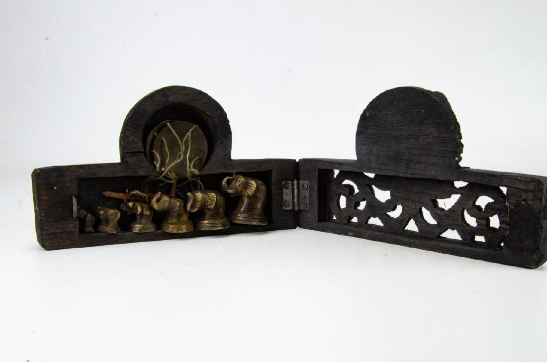 Burmese Miniature Brass Weights & Scale - 6