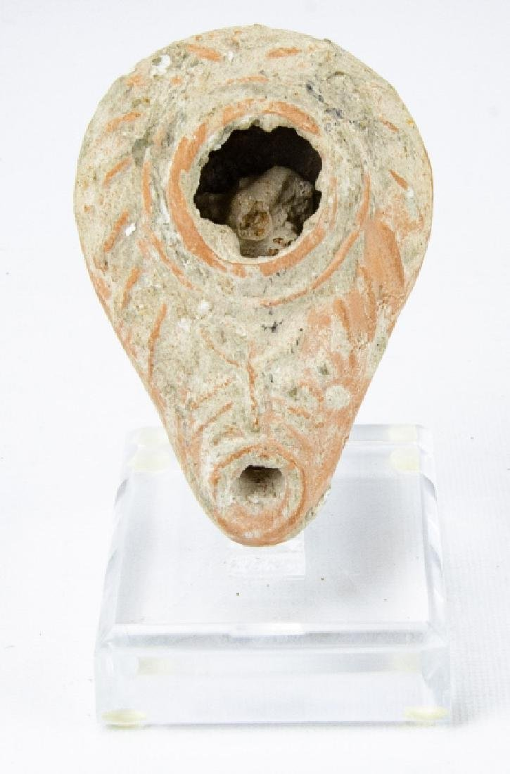 Ancient Roman Terra Cotta Oil Lamp