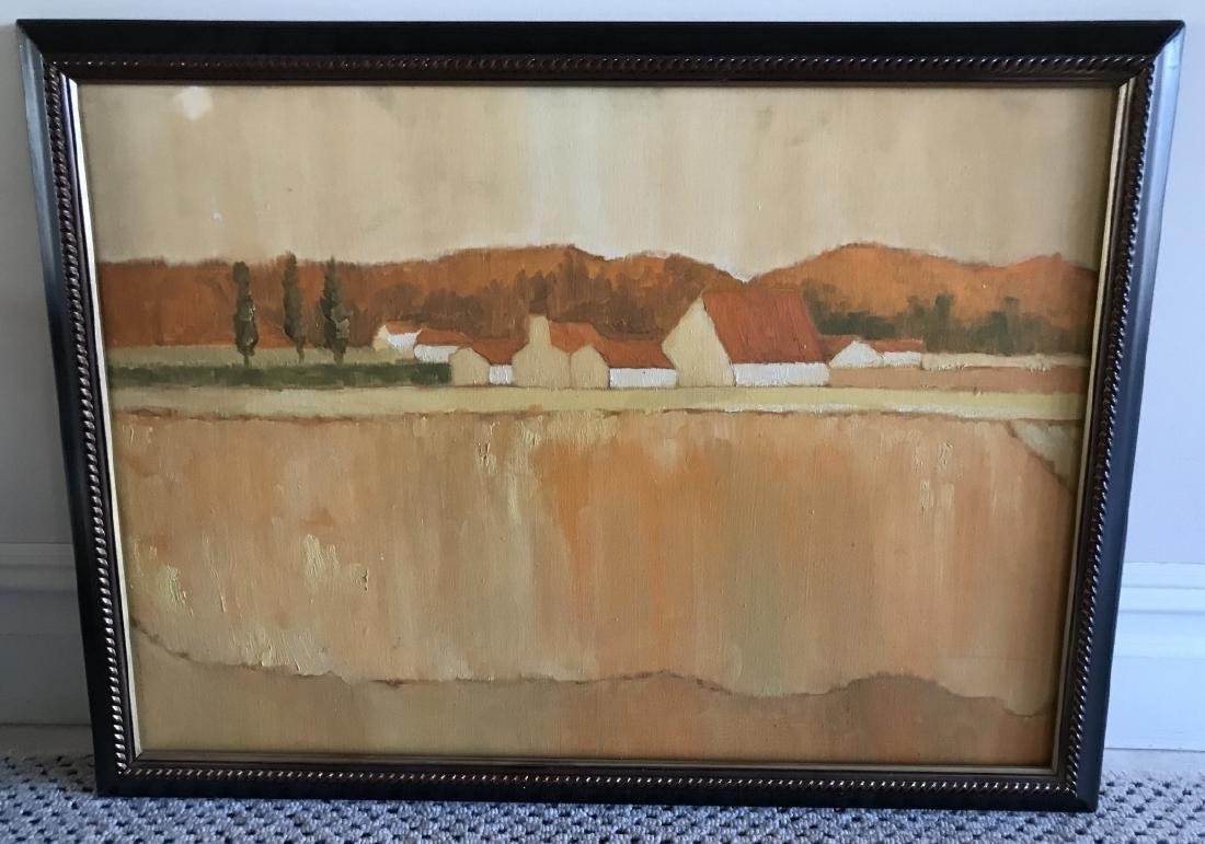 Contemporary Tonal Landscape Painting on Canvas