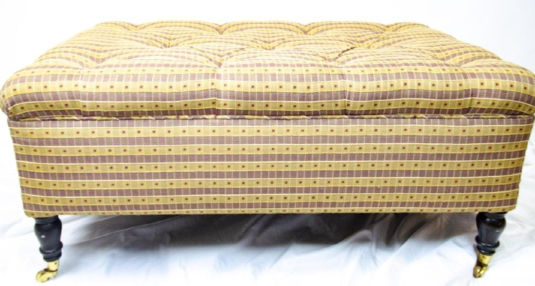 Custom Upholstered Chesterfield Tufted Ottoman