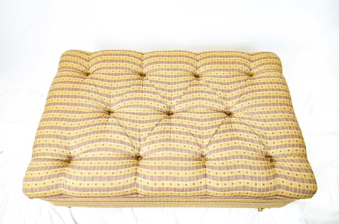 Custom Upholstered Chesterfield Tufted Ottoman - 5