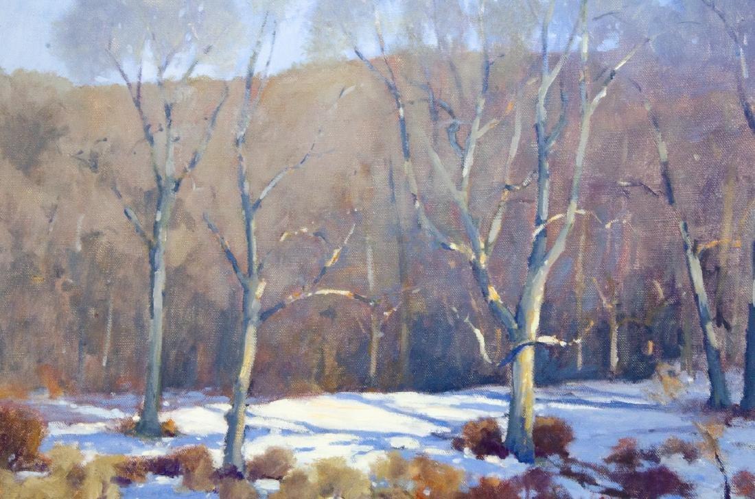 Robert A. Waltsak Winter Landscape Oil Painting - 4