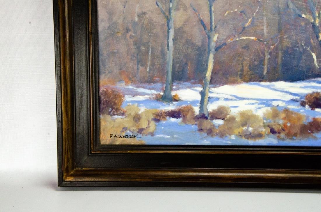 Robert A. Waltsak Winter Landscape Oil Painting - 5