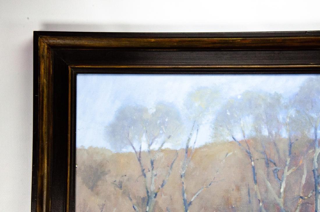 Robert A. Waltsak Winter Landscape Oil Painting - 6