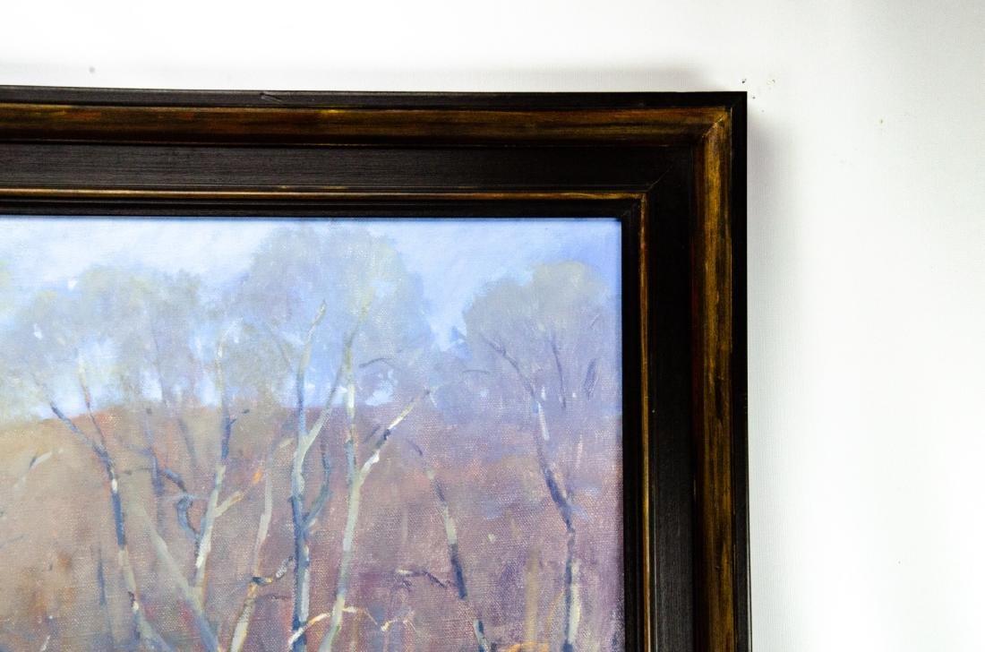 Robert A. Waltsak Winter Landscape Oil Painting - 7