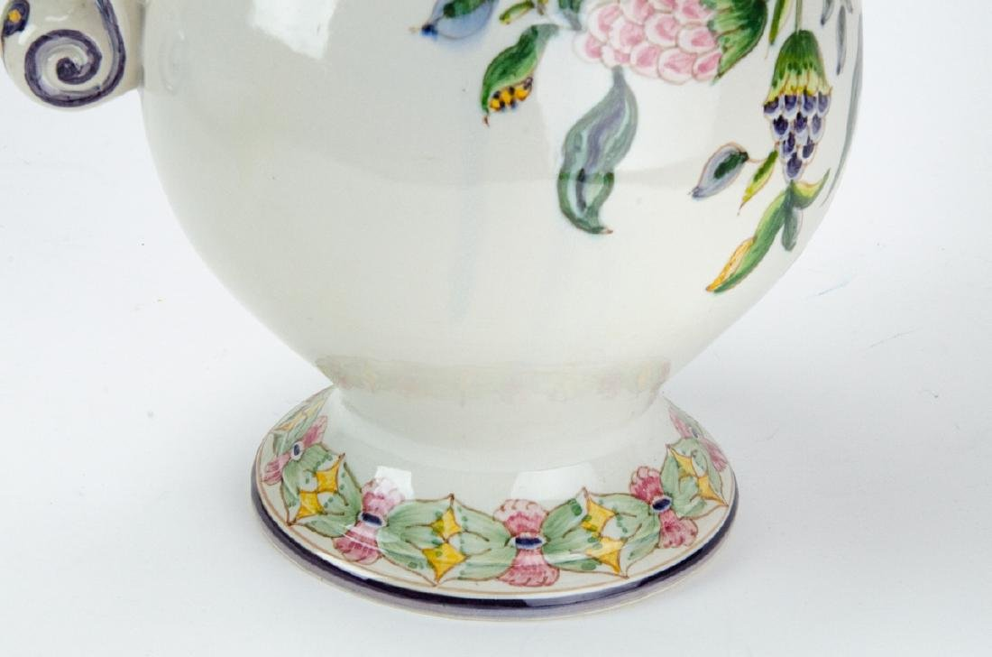 Hand Painted Pottery Pitcher & Wash Basin - 4