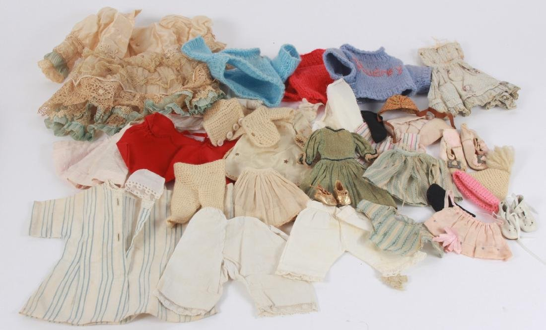 Collection of Antique & Vintage Doll Clothing