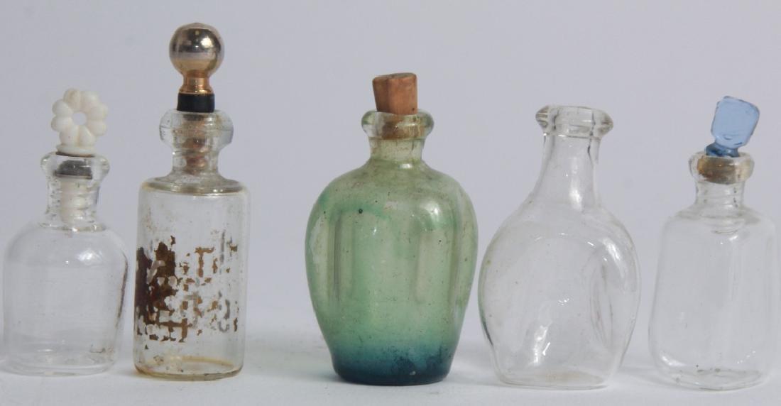 Antique Miniature Art Glass Perfume Bottles