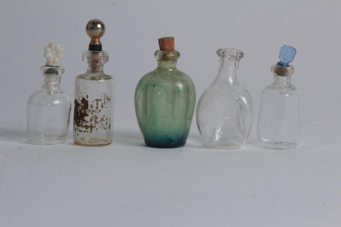Antique Miniature Art Glass Perfume Bottles - 2